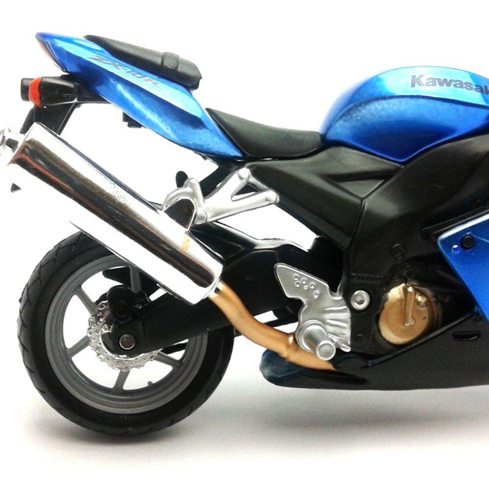 Kawasaki Ninja zx-10r azul escala 1:18 moto modelo de Bburago