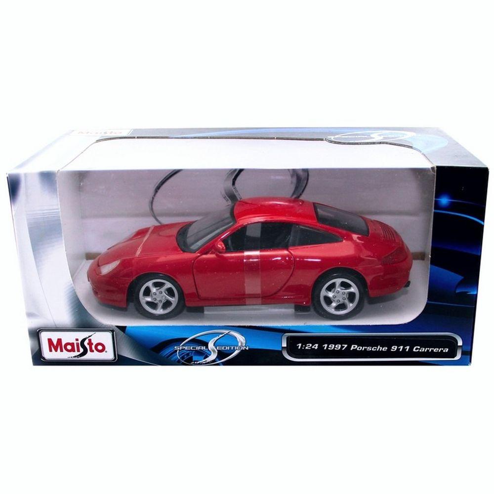 maisto 1 24 1997 porsche 911 carrera vermelho r 62. Black Bedroom Furniture Sets. Home Design Ideas